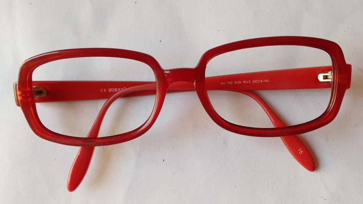 68751a7836 lentes ópticos guess gu793 square red rojos originales 54mm. Cargando zoom.