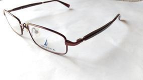 55e72e839c Lentes Ópticos Nautica N7143 Brown Red Stone Print Original