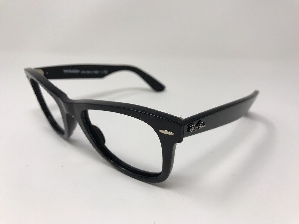 Lentes Ópticos Ray Ban Rb2140 Wayfarer Black Inclinados 50mm ... 9b9ad15b90