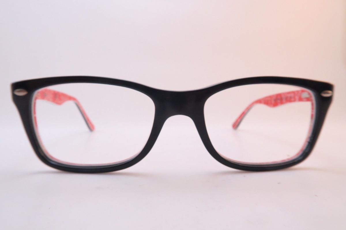 cd13d7268ea5f ... italy lentes ópticos ray ban rb5228 thin wayfarer black red 50mm. cargando  zoom. 4b7e0