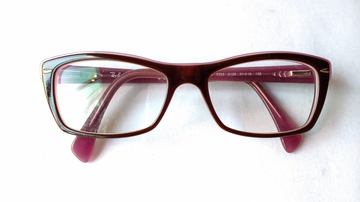 55a986865f lentes ópticos ray ban rb5255 dark brown pink original 51mm. Cargando zoom.
