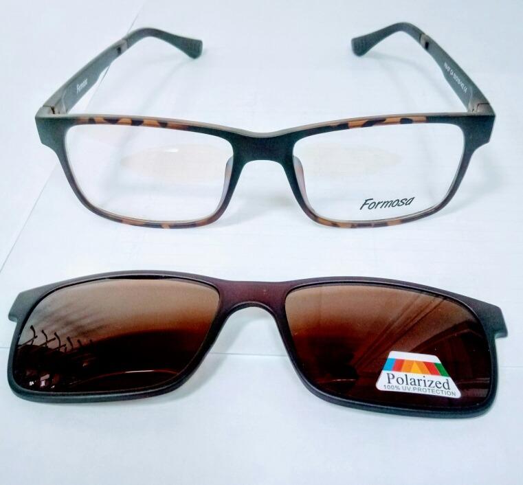 fc89e1685f Lentes Ópticos + Sobre Lente Polarizado - $ 35.990 en Mercado Libre