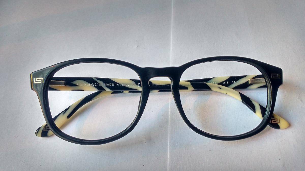 2b4c80e46d lentes ópticos versace 3133 lemtosh black zebra original 51m. Cargando zoom.