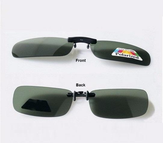 95cf21375 Lentes P/ Óculos Clip On Discreto Unissex Polarizado Verde - R$ 34 ...