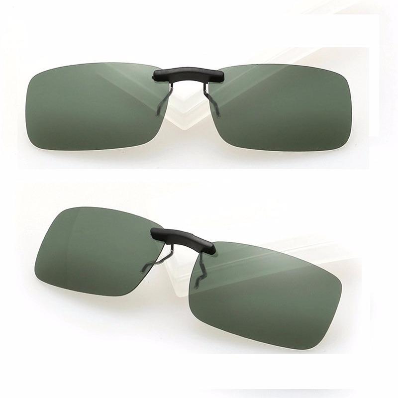 16923224bfd7a lentes p  óculos clip on discreto unissex polarizado verde. Carregando zoom.