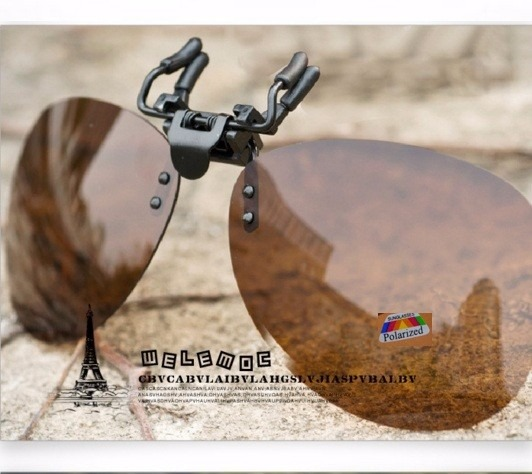 821b734d561cb Lentes P  Óculos Clip On Estilo Aviador - Marrom Polarizado - R  69 ...