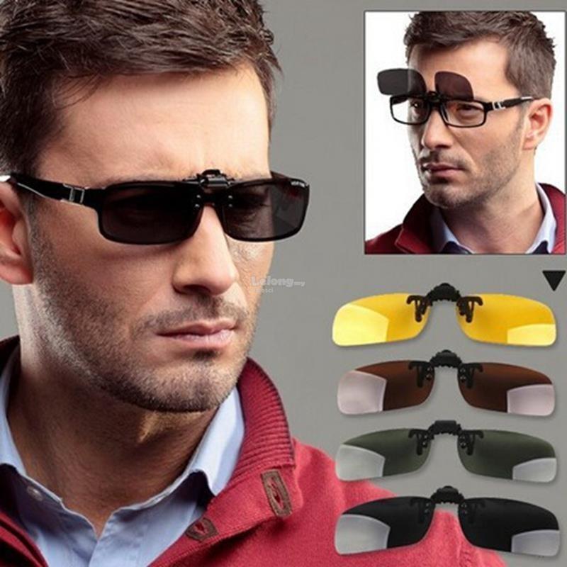 lentes p  sobrepor óculos de grau clip-on flip up - preto. Carregando zoom. 239fbcc7d5