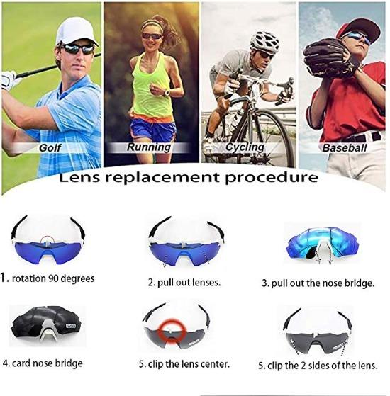 53ae1ab32b Lentes Para Ciclismo Deporte Con 4 Lentes Intercambiable 05 ...