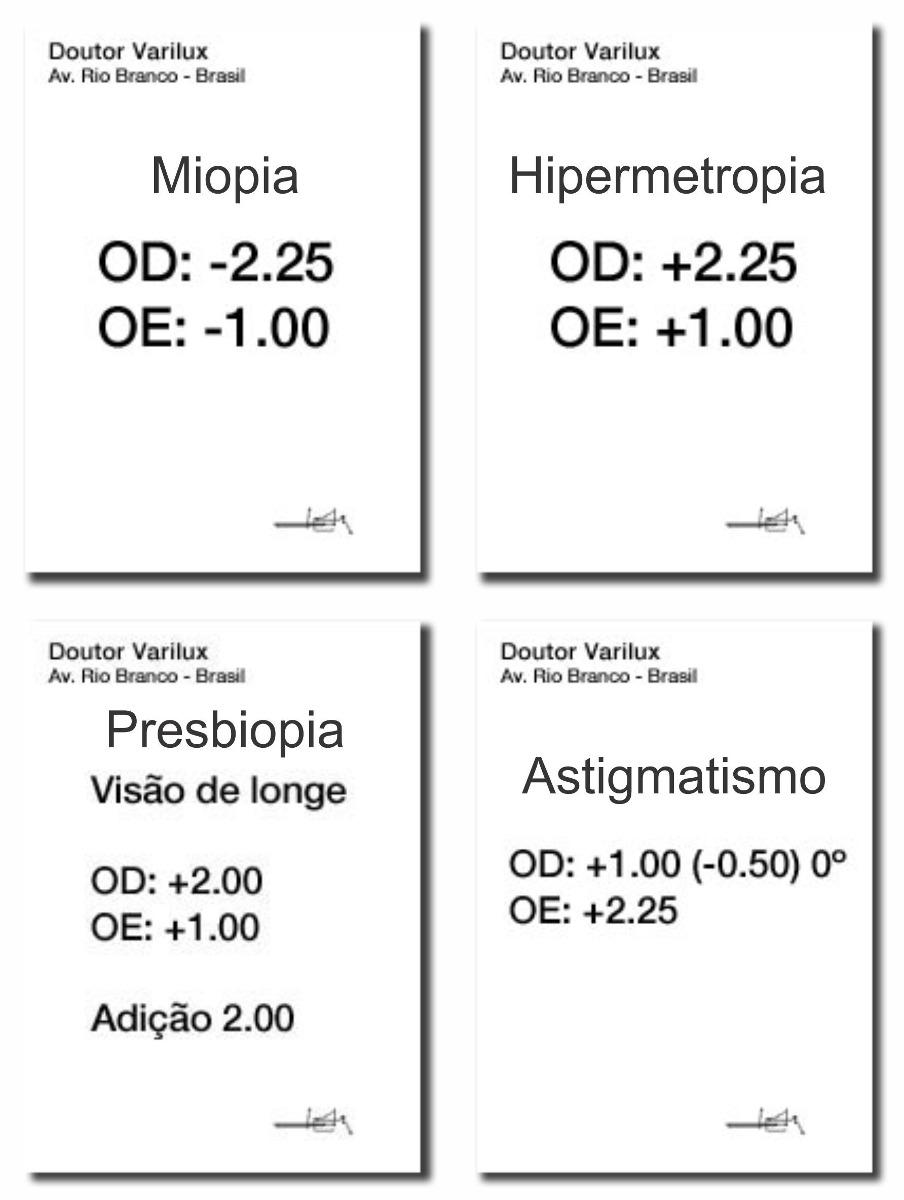 4c85a389013ef Lentes Para Miopia E Astigmatismo (par) Até 2.00 - R  18