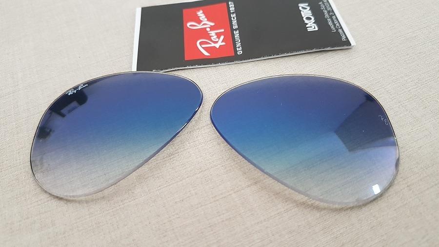 60d925c4e33cd lentes para ray-ban aviador rb3025 tamanho 68 azul degrade. Carregando zoom.