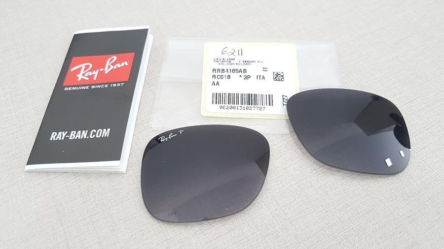 lentes para rayban justin rb4165 cinza black polarizada. Carregando zoom. c5170cefe5