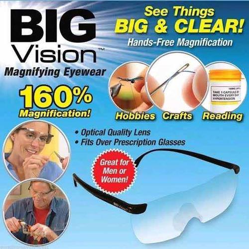 lentes pro big vision lupa aumento 50% de descuento