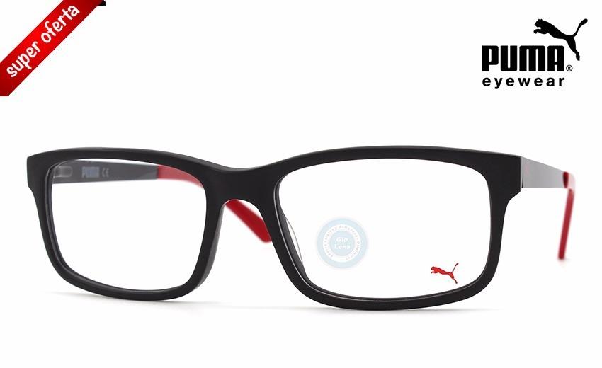 f80305e05 Lentes Puma Pe00160 005 Matte Black - Red Oftalmico Original ...