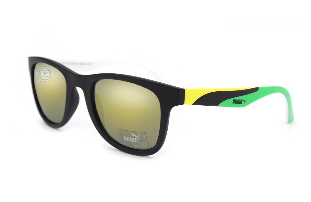 06e175b4e Lentes Puma Pu0012s 001 Go Team Matte Black Yellow - $ 1,999.00 en ...
