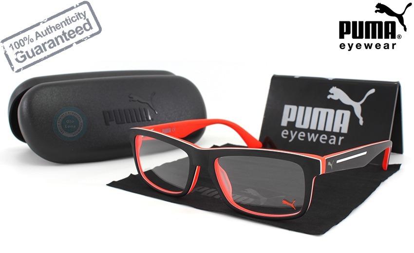 9cf9c6b92 Lentes Puma Pu00530 001 Satin Black / Orange Oftalmico Nuevo ...