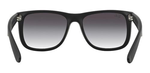 lentes ray-ban 0rb4165 justin negro gris gradiente