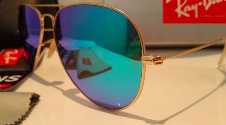 lentes ray ban aviator de colores
