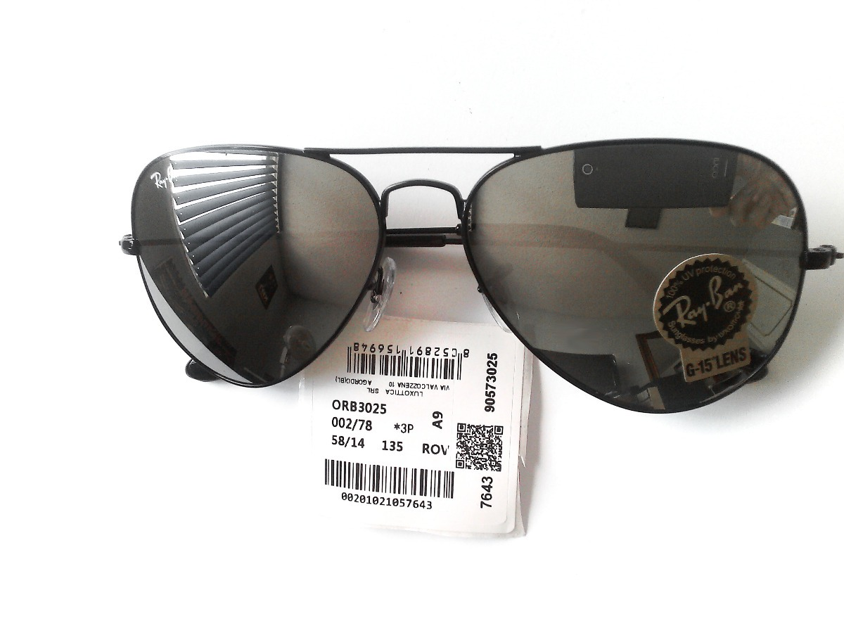 Lentes Ray Ban Rb3025 002-78 Aviator Espejo Deslumbrantes ... b135fa06d710