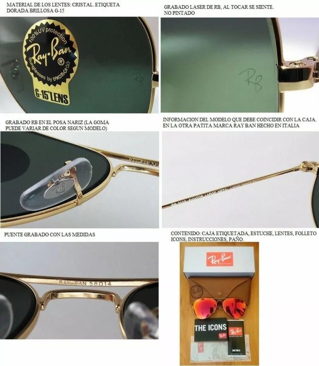 gafas ray ban aviator modelo 3025