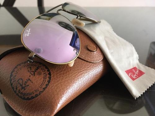 lentes ray ban aviador de mujer