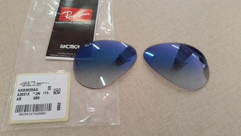 f86c13b5a87da lentes ray-ban aviador degradê rb3025 original só as lentes. Carregando zoom .