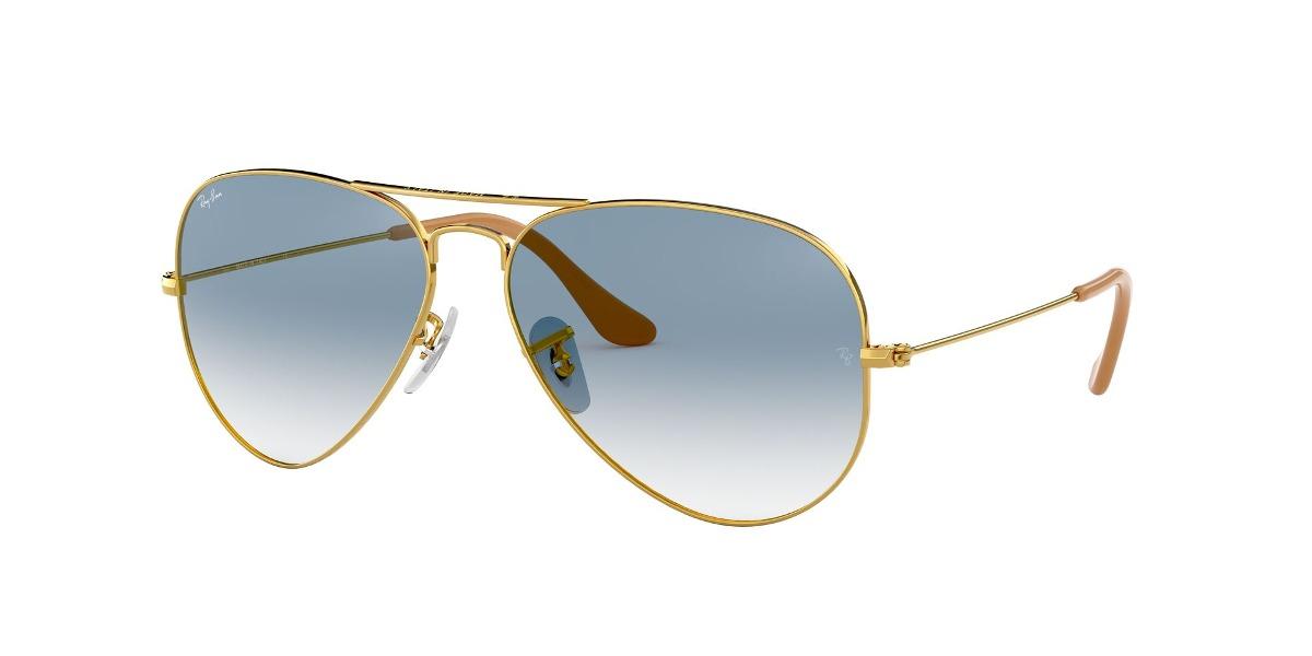 1e9157aeed08d Lentes Ray Ban Aviador Metal Dorado - Azul Gradiente -   87.990 en ...