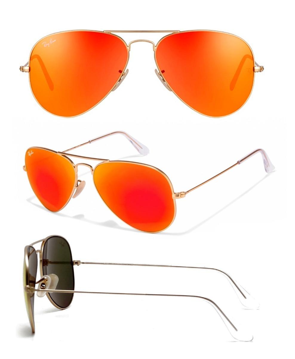 lentes ray ban naranjas mercadolibre