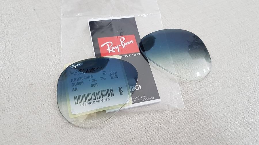 b9dba233c4fea lentes ray-ban aviador rb3025 rb3026 azul degradê original. Carregando zoom.