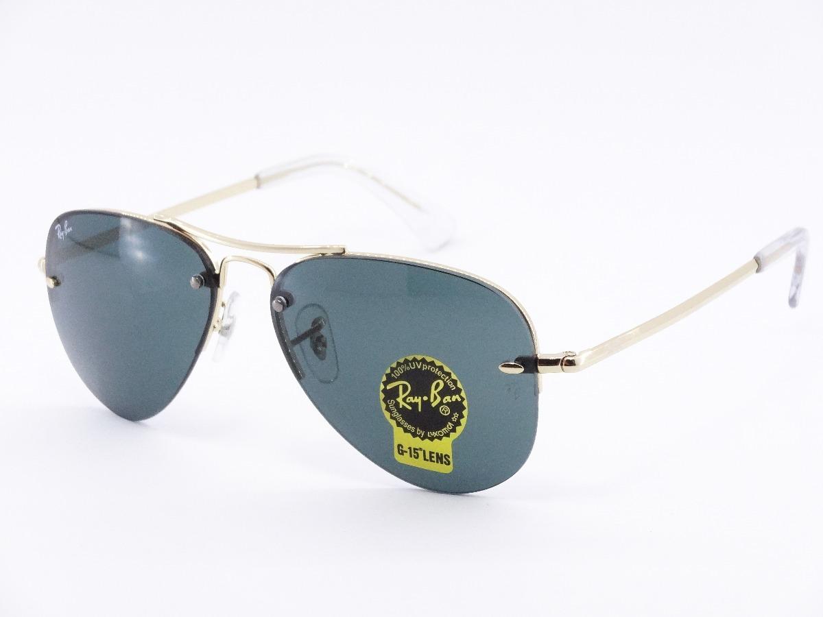 lentes ray ban aviador sin montura rb3449 001 71 verde dorad. Cargando zoom. fb73c2f11f8a
