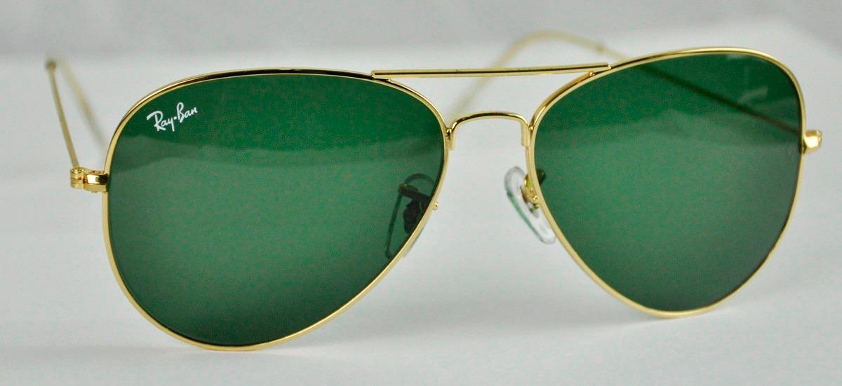 c4f89cb7fd Lentes Ray-ban Aviator 3025 Verde G15 100% Originales - Bs. 205.000 ...