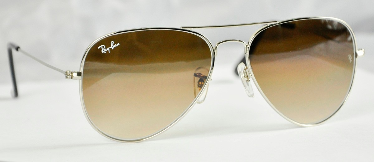 a9ec8045d9 ... shop lentes ray ban aviator 3025 3026 marron degrade 100original. cargando  zoom. df075 f8780