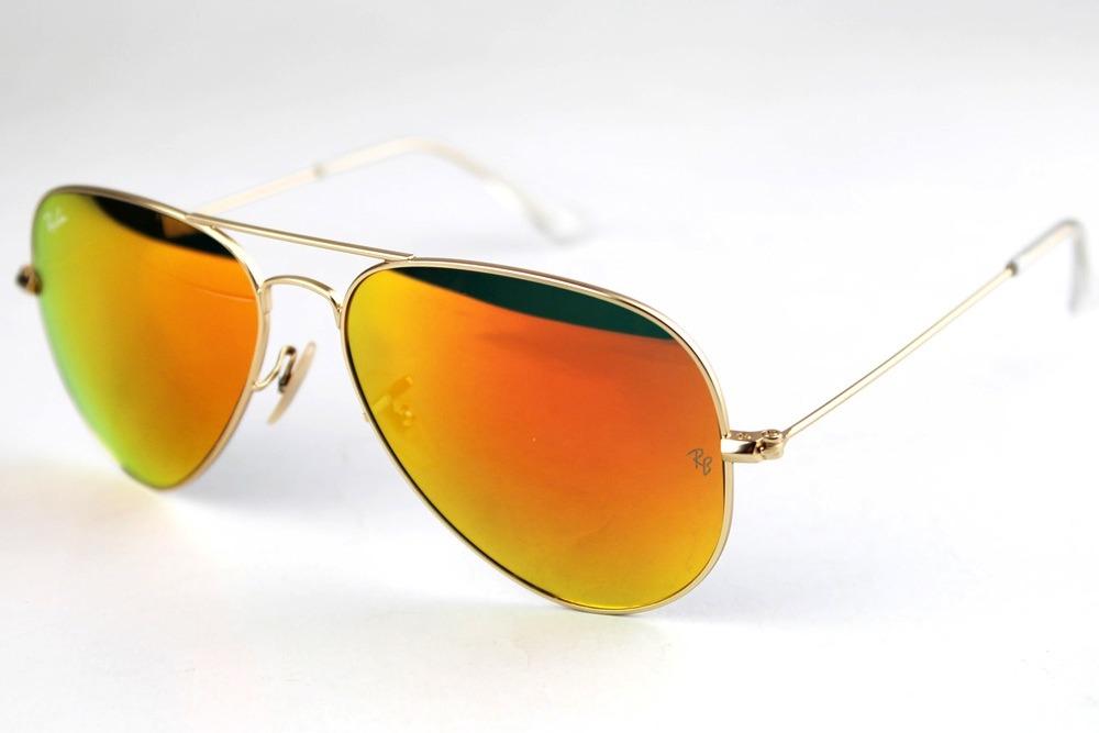 lentes ray ban aviador rojos