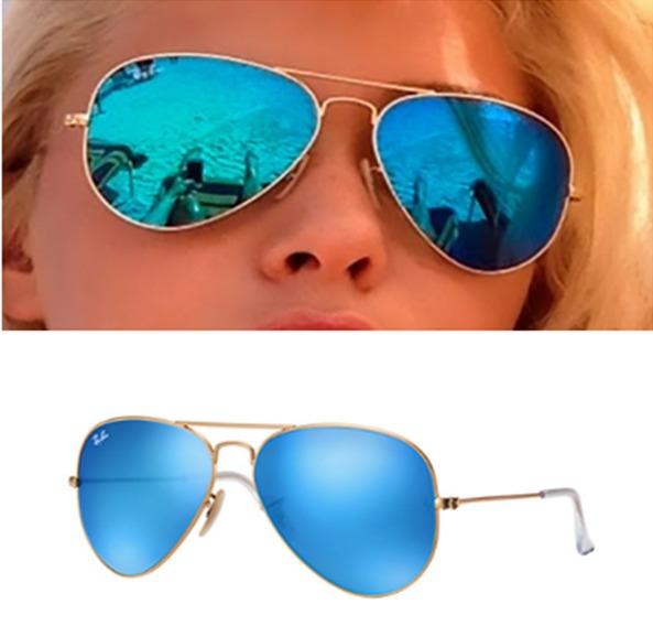 venta minorista 9d02e 9698d Lentes Ray Ban Aviator Rb 3025 112/17 Azul Espejo Promocion