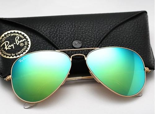 lentes ray ban espejo verde