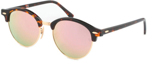lentes ray ban clubround rb 4246 990 z2 tortoise pink mirror