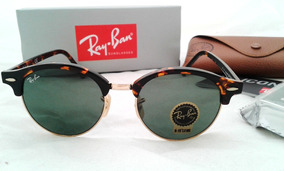 8e44a01a9f1a52 Lentes Ray Ban Clubround Rb4246 9903n Clubmaster Redondo 51