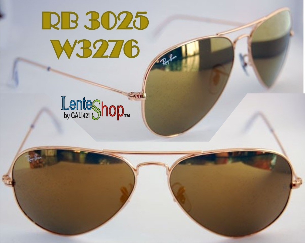 b1fdac06ab Lentes Ray Ban Gold Mirror Rb 3025 W3276 Gota Chica 55 - $ 2,395.00 ...