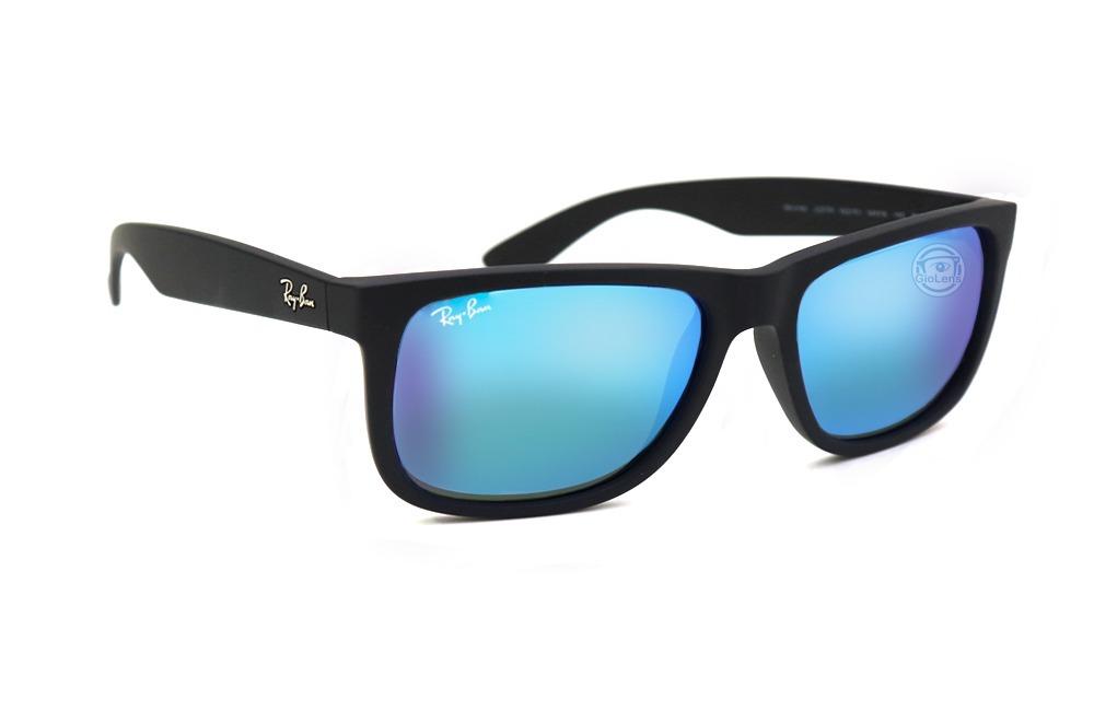 lentes ray ban justin 4165 622 black rubber - mirror blue. Cargando zoom. c309051e52