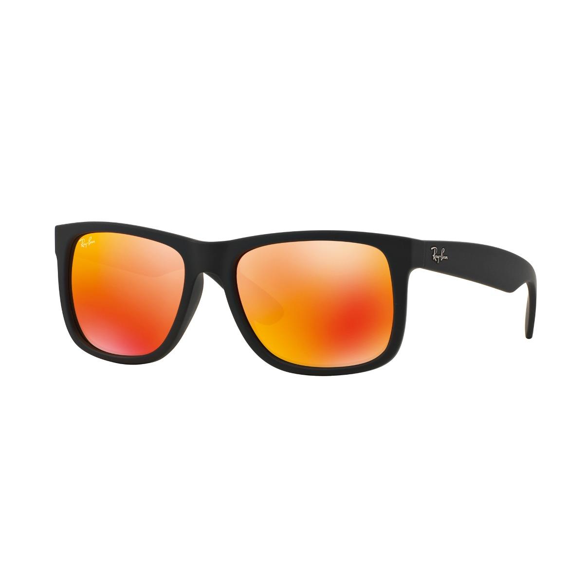 lentes ray ban rojo con negro