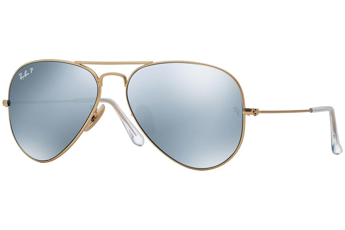 547df64ee lentes ray ban modelo aviator, rb3025 112/w3-plata polarizad. Cargando zoom.
