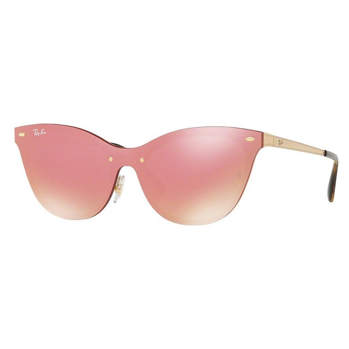 deed4ca47d Lentes Ray Ban Rb 3580n 043/e4 43 Cat Eye Oro / Rosa Espejo ...