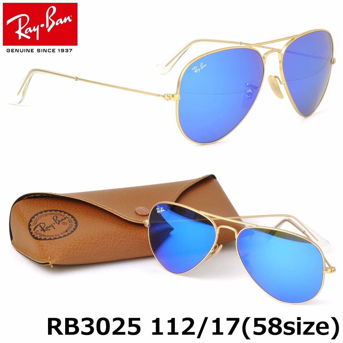 83705fb28b lentes ray ban rb3025 112/17 aviador gota med azul/dor unisx. Cargando zoom.