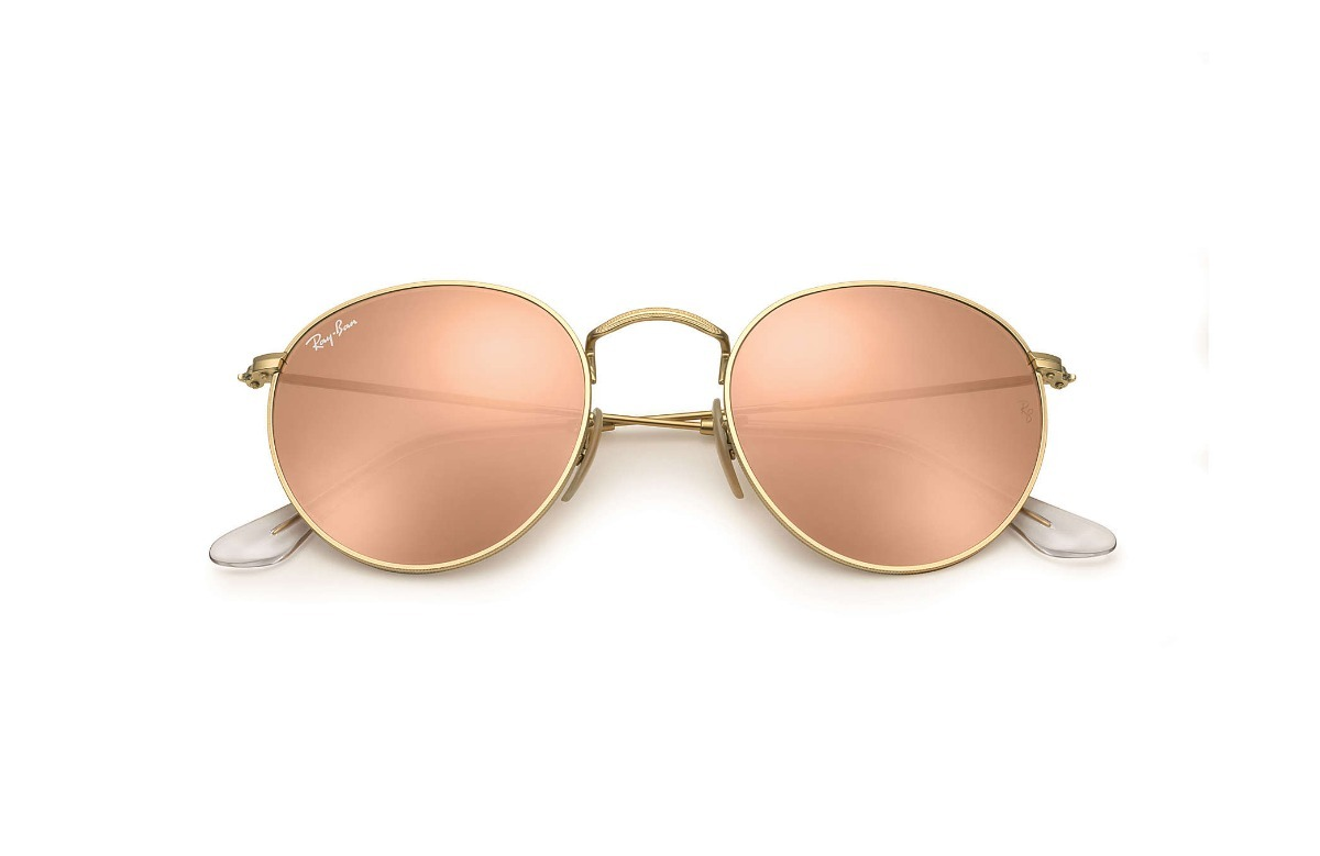 f9cc74690af75 lentes ray ban rb3447 round metal pink espejo rosa anteojos. Cargando zoom.