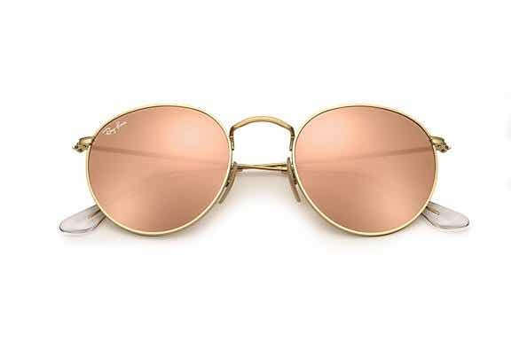 16b7e3e48edeb Lentes Ray Ban Rb3447 Rouns Metal Rosa Espejo Pink Anteojos ...