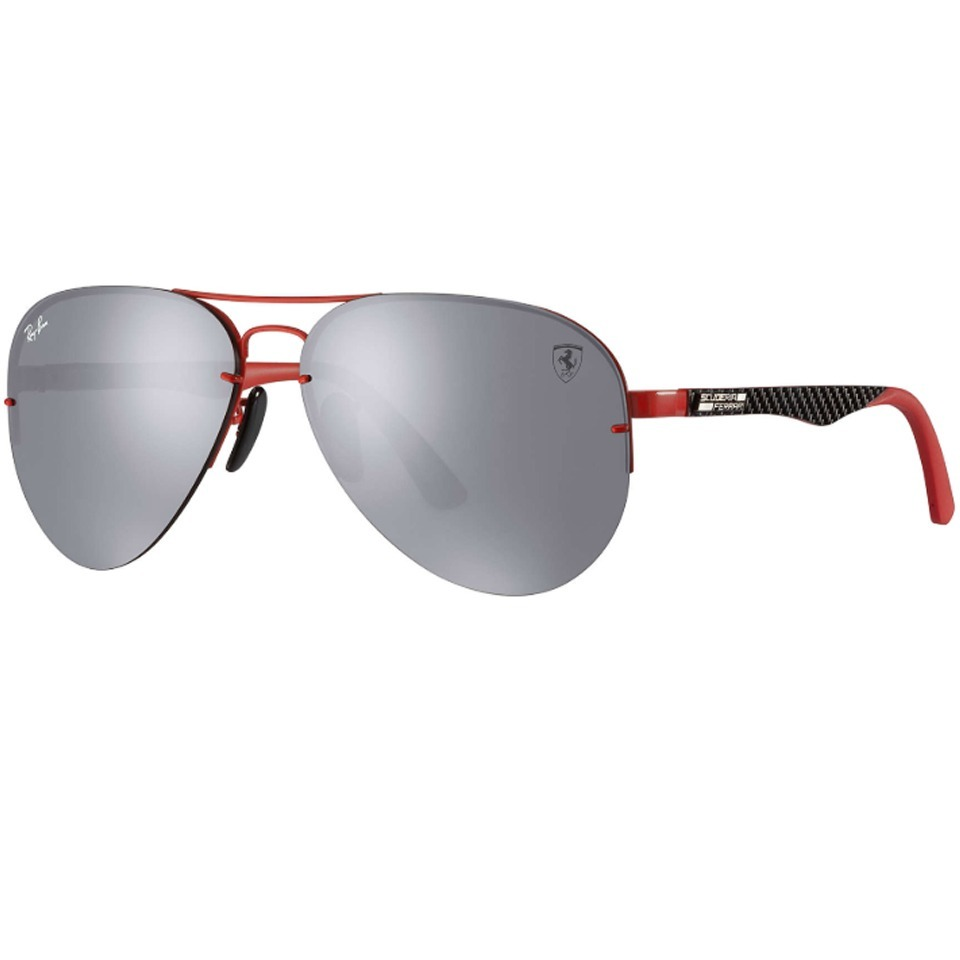 7b02896756 Lentes Ray Ban Rb3460m Scuderia Ferrari Collection Plata ...