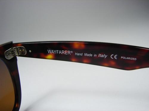 lentes ray ban wayfarer rb2140 polarizados, grandes 54mm