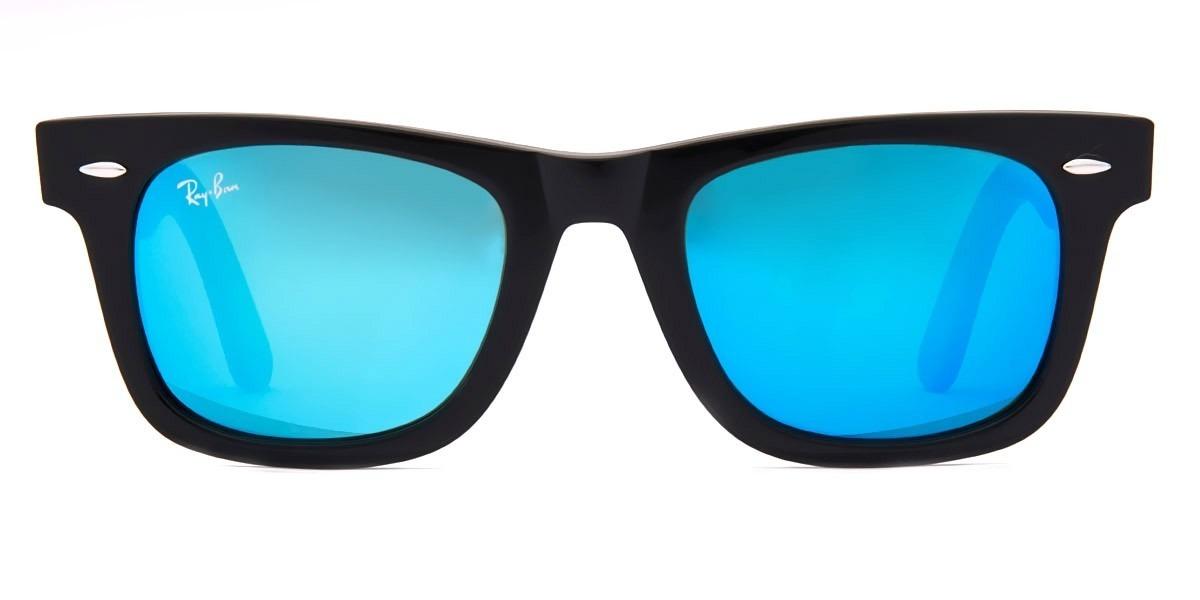 027fbbd24 lentes rayban 2140 wayfarer azul espejo talla 50 y 54mm. Cargando zoom.