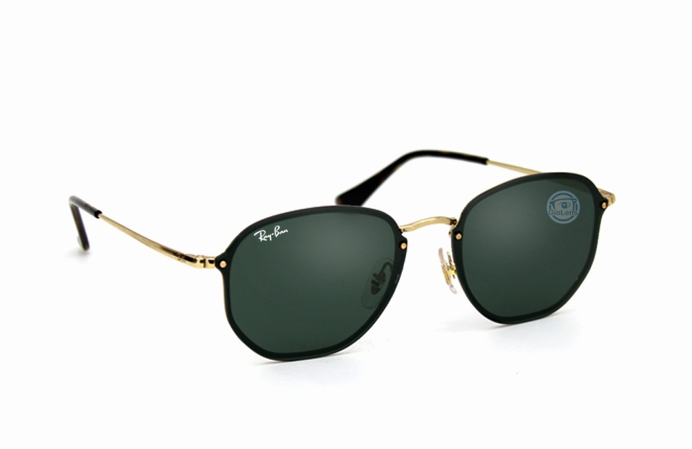 6637d68ac1fa4 lentes rayban 3579n 001 71 blaze hexagonal gold green msi. Cargando zoom.