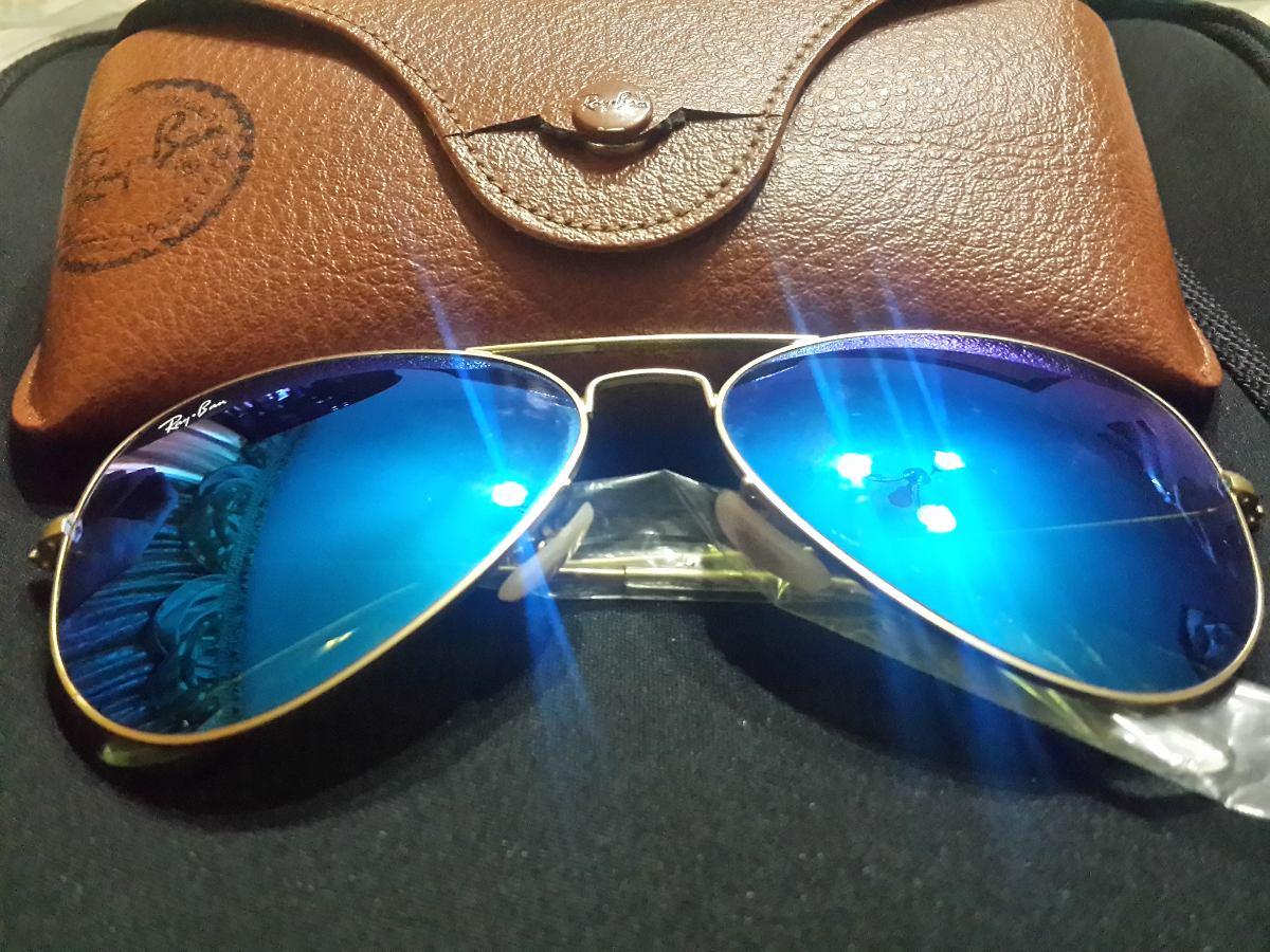 lentes ray ban azules aviador