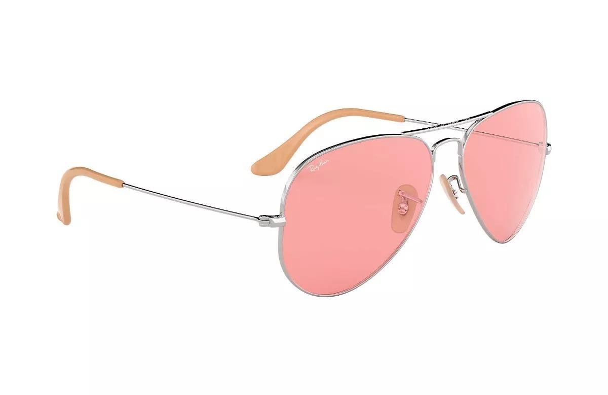 9731c9dd95 lentes rayban aviator evolve rosa mujer bonitos originales. Cargando zoom.